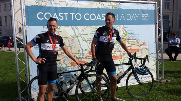 Ben & Dylan at the Coast to Coast Challenge in 2016